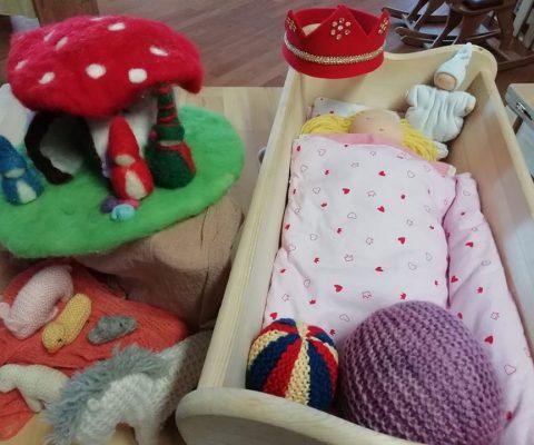 Laboratorio di giocattoli fatti a mano
